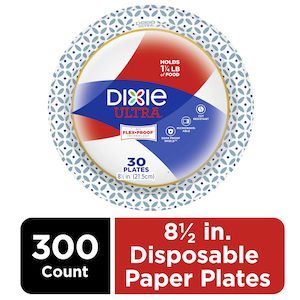 """Dixie Ultra® Heavy Duty 8 1/2"""" Disposable Paper Plates 300 Count"""
