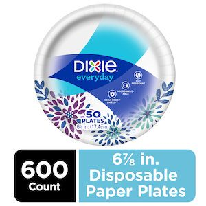 """Dixie® Everyday 6 7/8"""" Disposable Paper Plates 600 Count"""