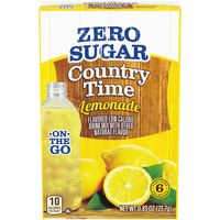 Country Time Lemonade On-The-Go Zero Sugar Flavored Low Calorie Powder Drink Mix, 6 ct - Packets