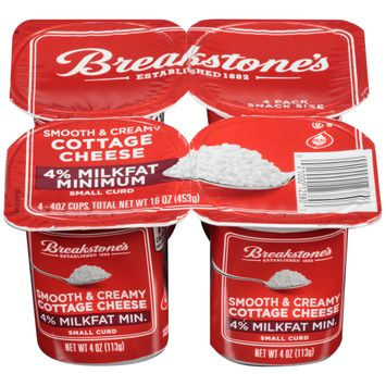 Breakstone's Small Curd 4% Milkfat Smooth and Creamy Cottage Cheese