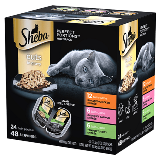 SHEBA® PERFECT PORTIONS™ Cuts in Gravy Roasted Chicken Entrée   SHEBA® PERFECT PORTIONS™ Cuts in Gravy Gourmet Salmon Entrée   SHEBA® PERFECT PORTIONS™ Cuts in Gravy Tender Turkey Entrée