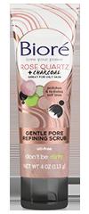 Bioré®  Rose Quartz + Charcoal Gentle Pore Refining Scrub