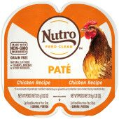 NUTRO Grain Free* Natural Wet Cat Food Paté Chicken Recipe, (24) 2.64 oz. PERFECT PORTIONS Twin-Pack Trays