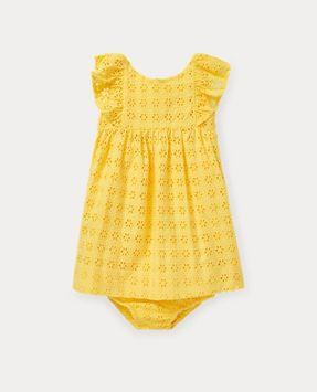 Ralph Lauren Eyelet Cotton Dress & Bloomer