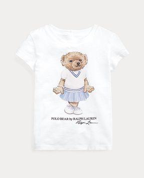 Ralph Lauren Cricket Bear Cotton Jersey Tee