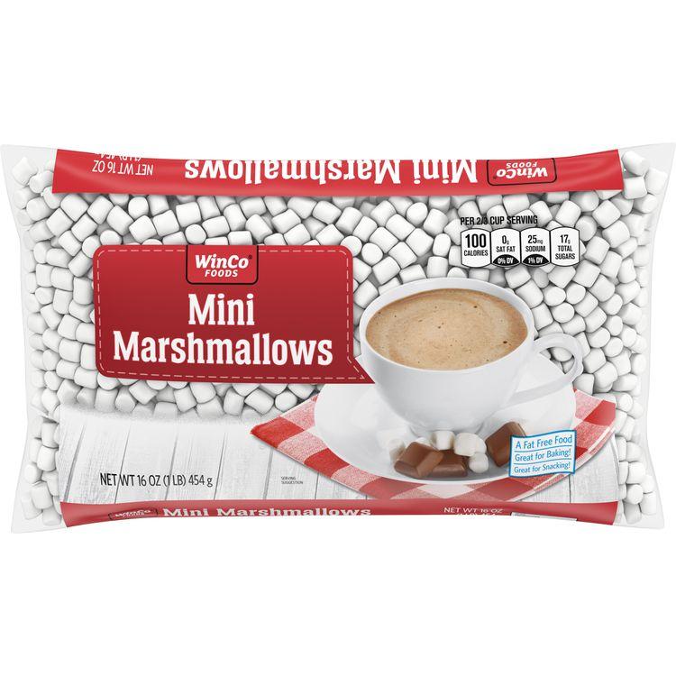 Winco Mini Marshmallows 16 oz Wrapper