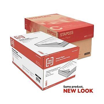 "Tru Red 8.5"" X 11"" Printer Paper 20 Lbs. 92 Brightness 5000/ream 10 Reams/carton"