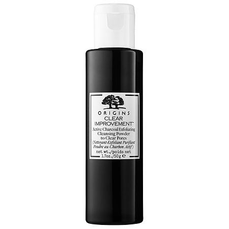 Origins Clear Improvement Active Charcoal Exfoliating Cleansing Powder to Clear Pores