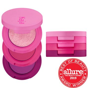 Kaja Beauty Bento Bouncy Shimmer Eyeshadow Trio Hella Azalea 3 x 0.03 oz/ 0.9 g