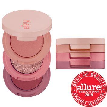 Kaja Beauty Bento Bouncy Shimmer Eyeshadow Trio Glowing Guava