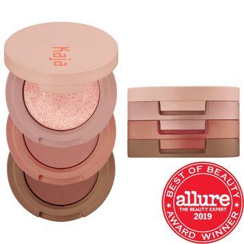 Kaja Beauty Bento Bouncy Shimmer Eyeshadow Trio Chocolate Dahlia