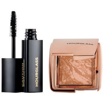 Hourglass Ambient Lighting Bronzer & Caution Extreme Lash Mascara Mini Set