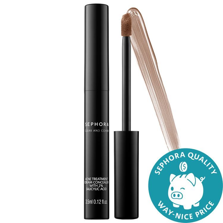 SEPHORA COLLECTION Clear and Cover Acne Treatment Cream Concealer with 2% Salicylic Acid