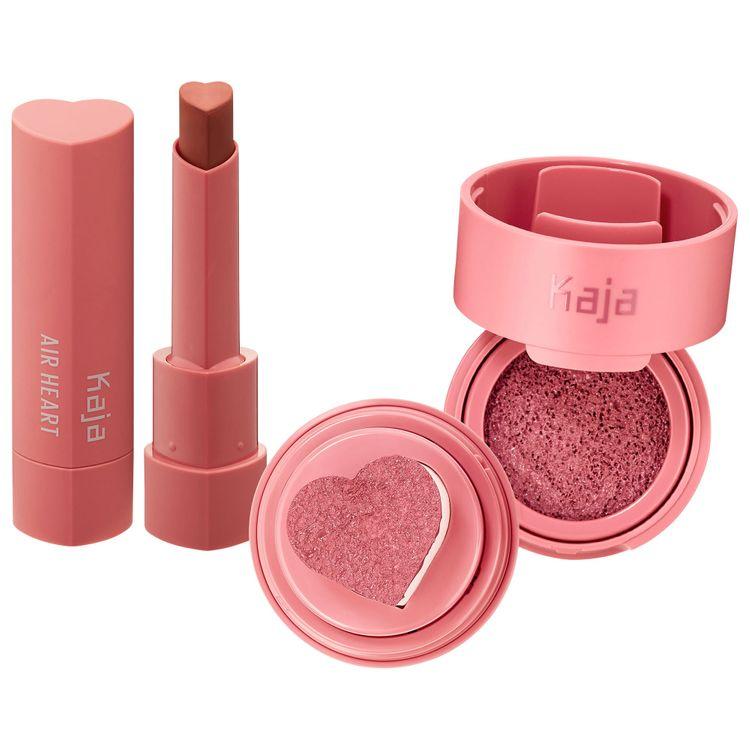 Kaja Air Heart Lipstick + Cheeky Stamp Blush Set