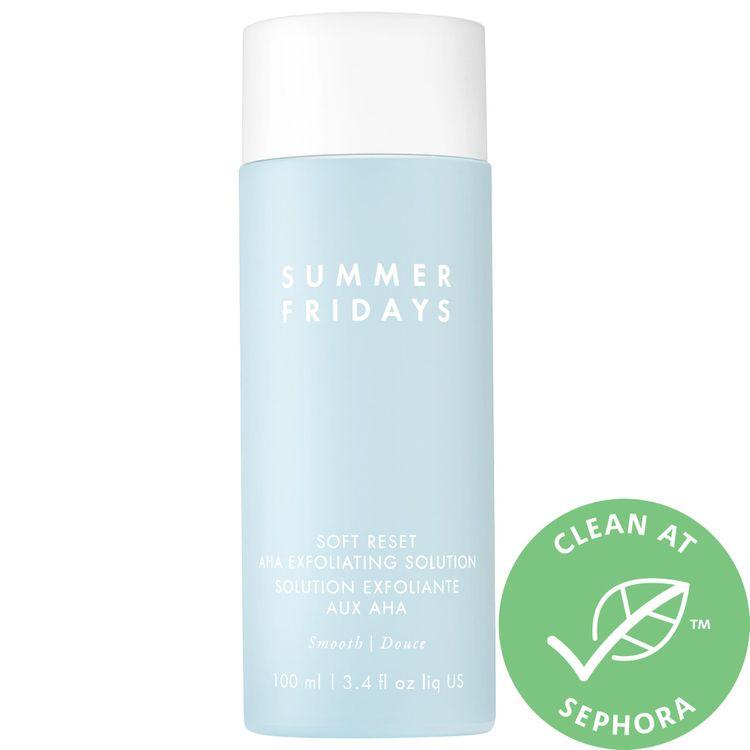 Summer Fridays Soft Reset AHA Exfoliating Solution 3.4 oz/ 100 mL