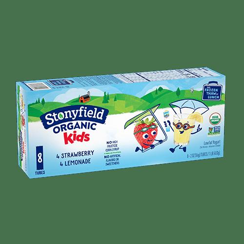 Stonyfield Kids Low Fat Tubes Strawberry / Lemonade