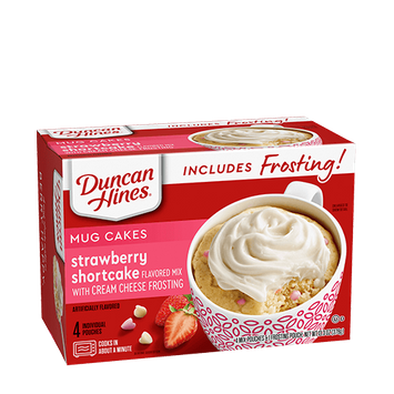 Duncan Hines Strawberry Shortcake with Cream Cheese Frosting Mug Cake
