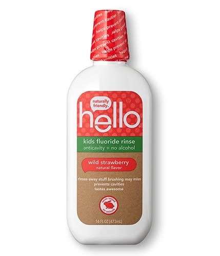 Hello Product Kids Fluoride Strawberry Mouthwash