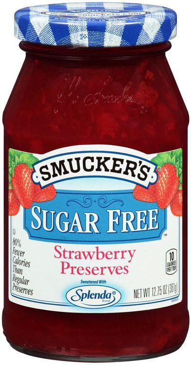 Smuckers Sugar Free Strawberry Preserves with Splenda Brand Sweetener