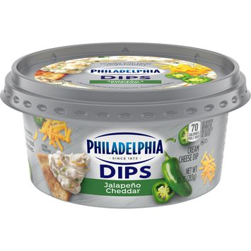 Philadelphia Dips Jalapeno Cheddar Cream Cheese Dip 10 oz Tub