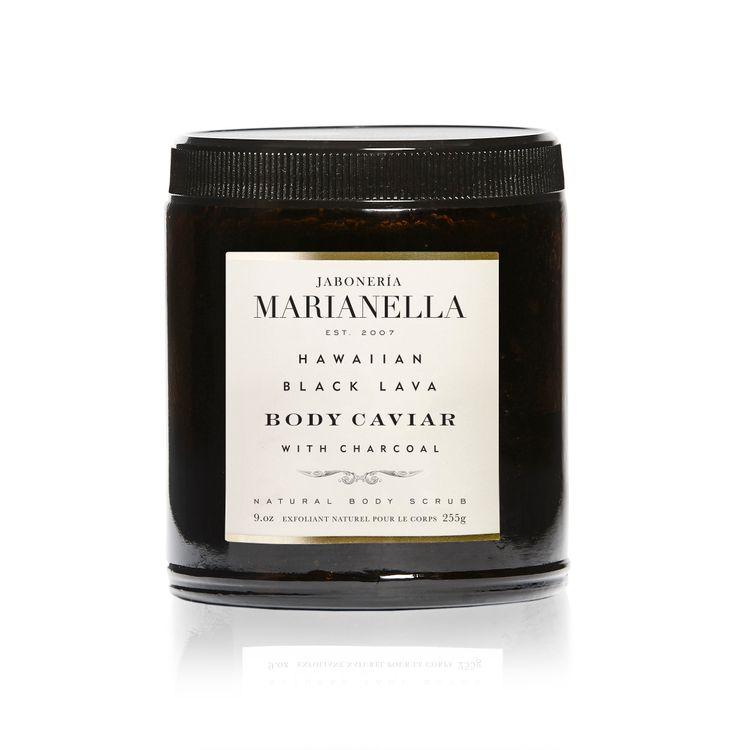 Marianellasoap Hawaiian Black Lava Caviar with Charcoal Body Scrub