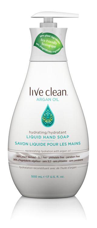 Live Clean Exotic Nectar Argan Oil Liquid Hand Soap, 17 oz. Bottle