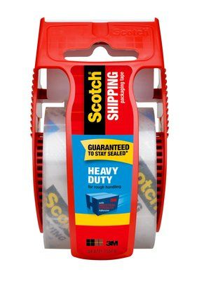 Scotch® Heavy Duty Shipping Packaging Tape with Dispenser