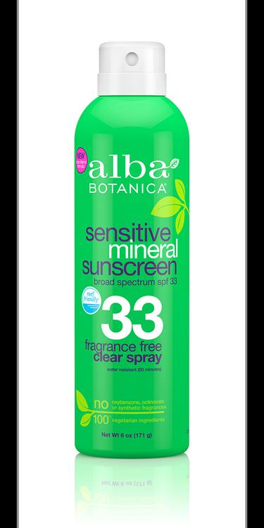 Alba Botanica Sensitive Mineral Sunscreen,  Fragrance Free SPF 33