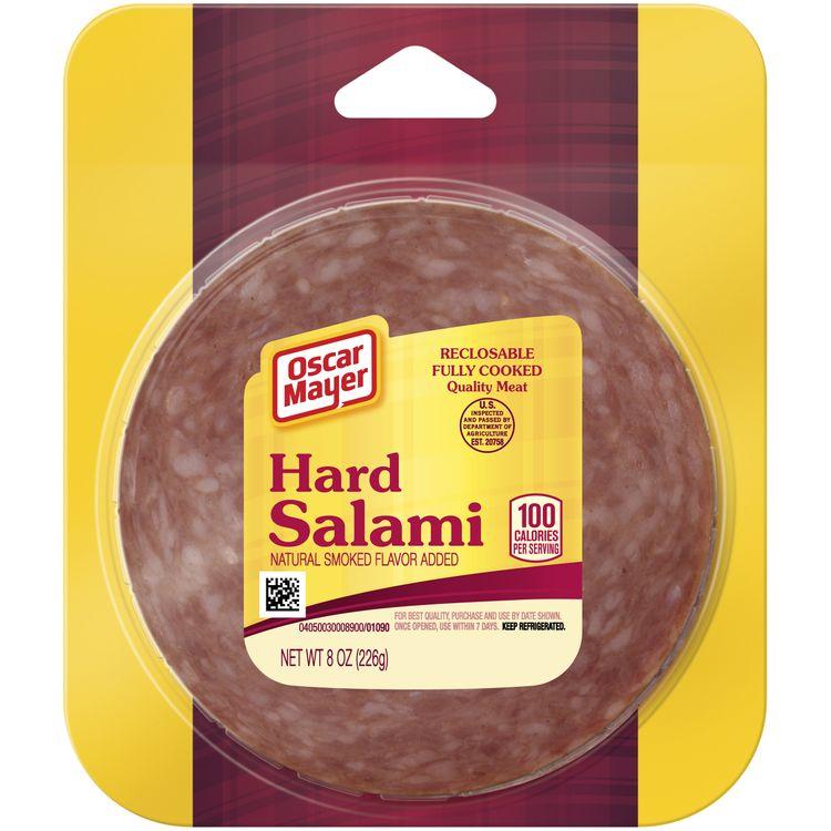Oscar Mayer Hard Salami With Natural Smoke Flavor Added, 8 oz Vacuum Pack