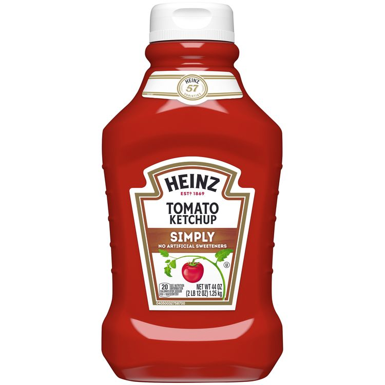 Heinz Simply Tomato Ketchup with No Artificial Sweeteners, 44 oz Bottle