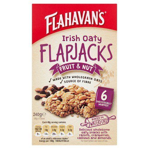 Flahavan's Irish Oaty Flapjacks Fruit & Nut 6 x 40g (240g)