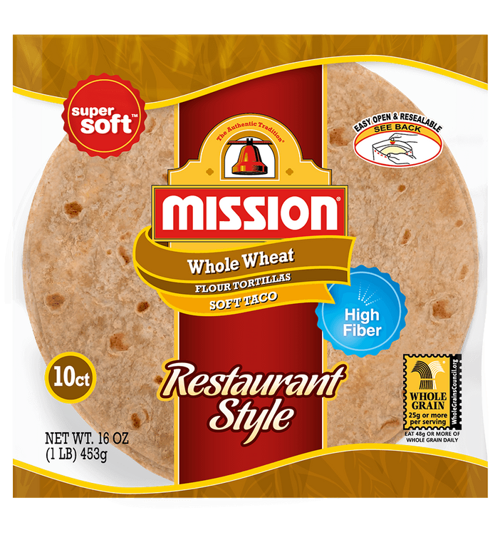 Mission Soft Taco Restaurant Style Whole Wheat Tortillas