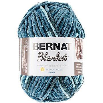 Spinrite Bernat Blanket Big Ball Yarn, Teal Dreams