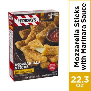 TGI Fridays Frozen Mozzarella Sticks with Marinara Sauce, Frozen Appetizer