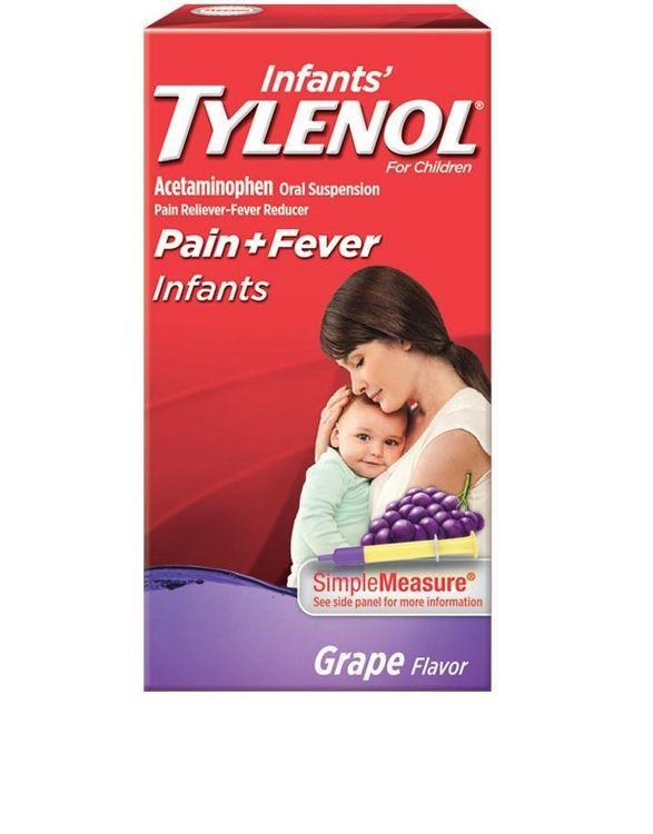 Tylenol® Infants' Liquid Medicine Relieves Babies' Minor Pains, Headache, Sore Throat & Toothache