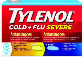 Tylenol® Cold + Flu Severe for Day and Night Time Relief of Fever, Pain, Cough & Congestion