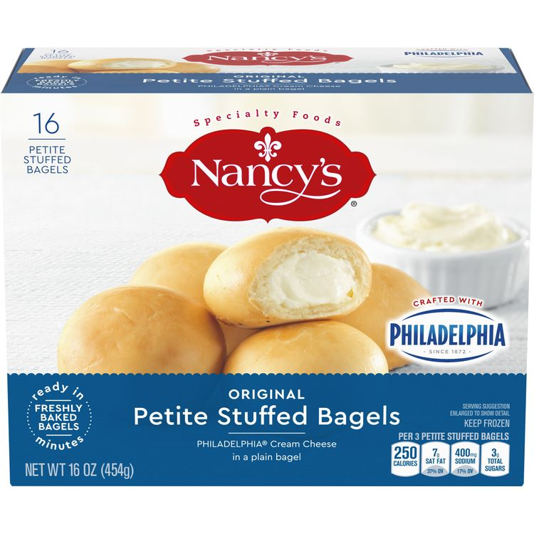 Nancy's Petite Stuffed Bagels with Original Philadelphia Cream Cheese, 16 ct - 16 oz Bag