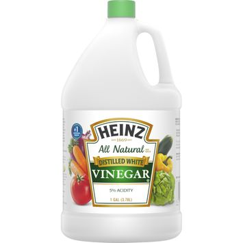 Heinz All Natural Distilled White Vinegar with 5% Acidity, 1 gal Jug