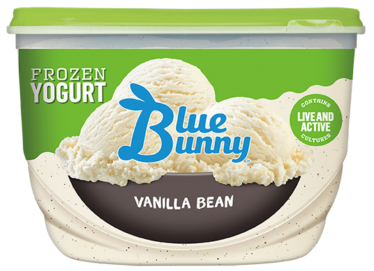 Blue Bunny Vanilla Bean Frozen Yogurt , 48 fl oz