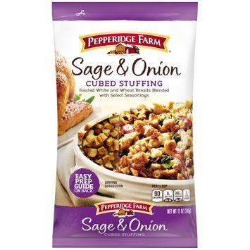 Pepperidge Farm® Sage & Onion Cubed Stuffing, 12 oz. Bag