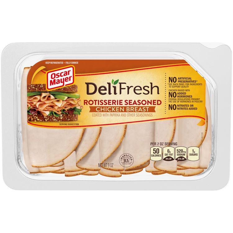 Oscar Mayer Deli Fresh Rotisserie Seasoned Chicken Breast Lunch Meat