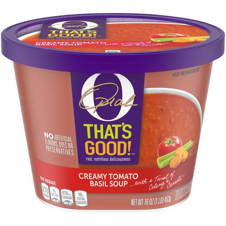 O That's Good! Creamy Tomato Basil Soup, 16 oz Tub