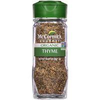 McCormick Gourmet Organic Thyme Leaves, 0.65 Oz