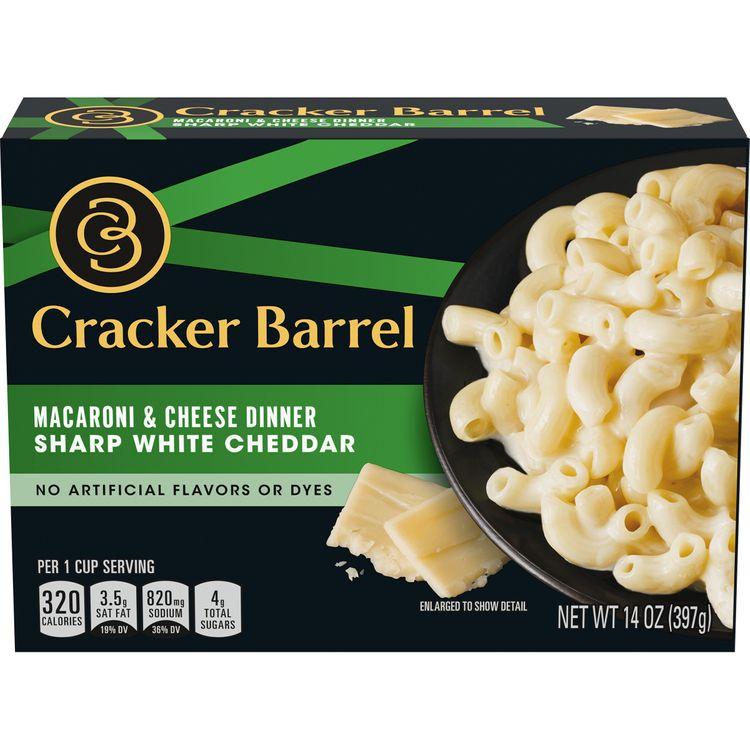 Cracker Barrel Sharp White Cheddar Macaroni and Cheese Dinner