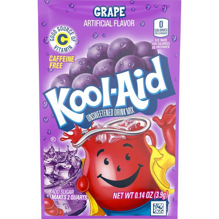 Kool-Aid Unsweetened Grape Powdered Drink Mix, Caffeine Free