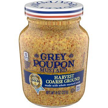 Grey Poupon Harvest Coarse Ground Dijon Mustard, 8 oz Jar