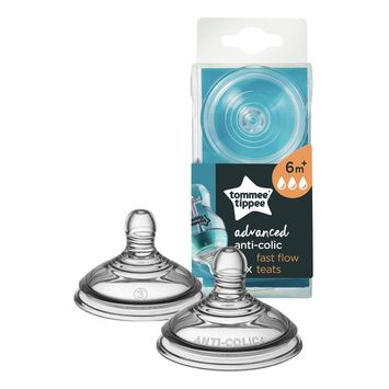 Tommee Tippee Advanced Anti-Colic Fast Flow Teats - 2 pack