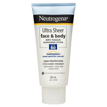 Neutrogena® Ultra Sheer® Face & Body Lotion SPF50 88mL