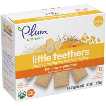 Plum Organics® Little Teethers Banana with Pumpkin, 3.17oz (Pack of 6)