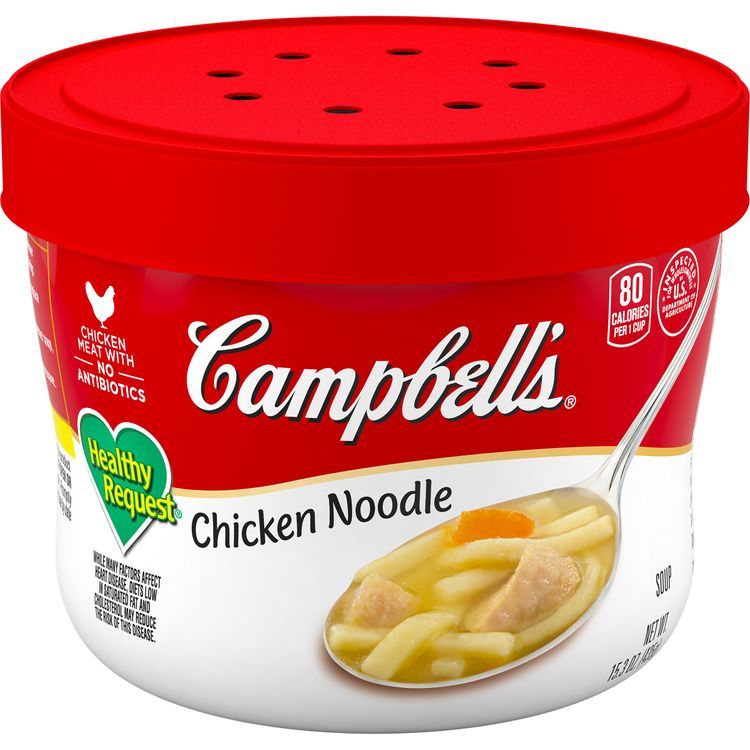 Campbell's® Chunky® Healthy Request® Classic Chicken Noodle Soup Microwavable Bowl, 15.25 oz.